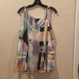 Theory pastel multi color tank top